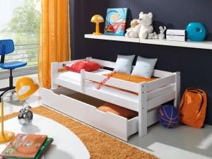 Kinderbett mit Seitenschutz weiß